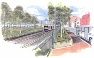 Rail line beautification