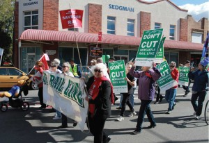 Photo of SOR supporters at the May Day march 2014, taken by Chris Smith.