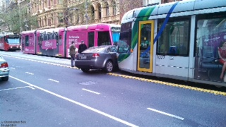 Tram vs car - the new Newcastle?