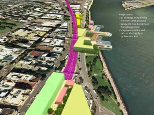 IT'S A LAND GRAB! -- GPT's 2008 plan to build on the rail line and foreshore