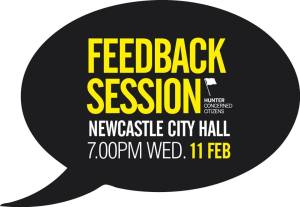 Feedback Session at Newcastle City Hall, 7.00pm Wednesday 11 February