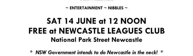 Event: High noon in June! (Sat 14 June 2014, 12 noon @ Newcastle Leagues Club)