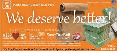We Deserve Better rally - Sat 06/09/2014, 10.30am, Civic Park